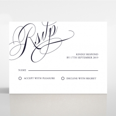 A Polished Affair rsvp invite design