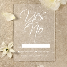 Acrylic Diamond Drapery rsvp wedding enclosure card