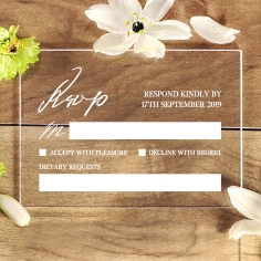 Acrylic Modern Romance rsvp wedding card design