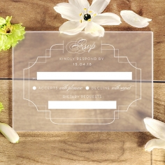 Acrylic Regal Enchantment rsvp invite