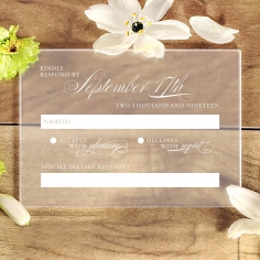 Acrylic Timeless Romance wedding rsvp card