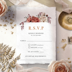 Blossoming Love rsvp card design