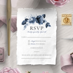 Blue Wonderland rsvp card design
