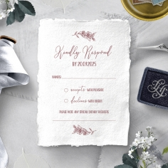 Bouquet of roses rsvp invitation design