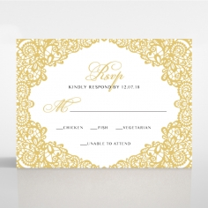 Charming Lace Frame rsvp enclosure card