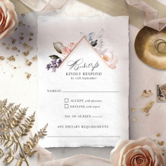 Enchanting Florals rsvp wedding enclosure invite design
