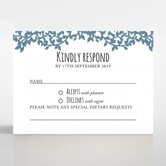 Forest Love wedding rsvp card