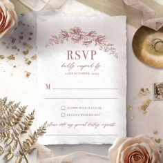 Fragrant Romance rsvp wedding card