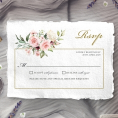 Geometric Bloom rsvp wedding enclosure card design
