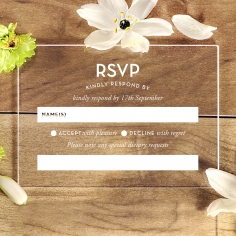 Gold Chic Charm Acrylic rsvp invitation design