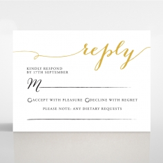 Infinity rsvp wedding enclosure invite design