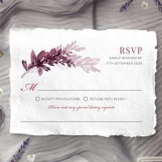 Magenta Wed rsvp enclosure card