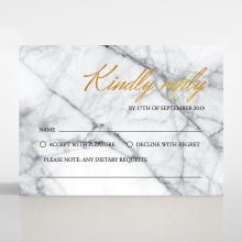 Two Tone Marble Foil Stamped Save the Date Wedding Card