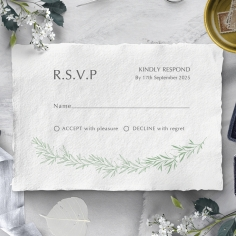 Minimalist Wreath rsvp wedding enclosure design