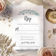 Modern Garland rsvp wedding enclosure design