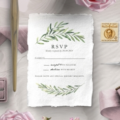 Olive Leaves rsvp invite