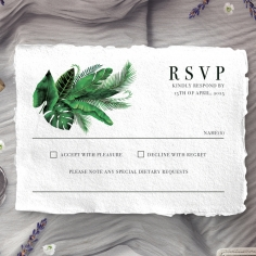 Palm Leaves rsvp card design