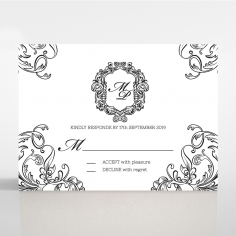 Paper Aristocrat rsvp wedding enclosure design