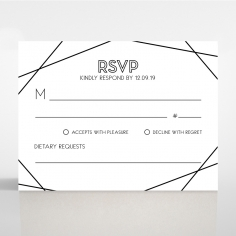 Paper Art Deco wedding rsvp card