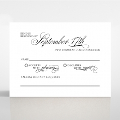 Paper Timeless Romance wedding rsvp card