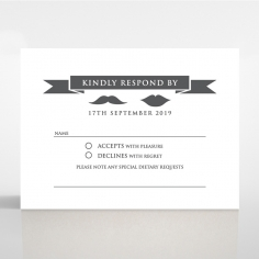 Playful Love wedding rsvp card