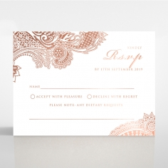 Regal Charm Letterpress with foil rsvp invitation