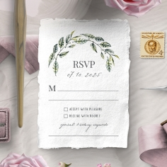 Rustic Affair rsvp card