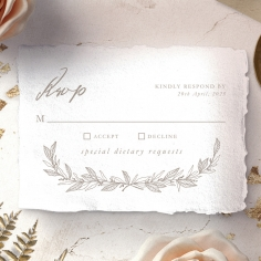 Simple Charm rsvp invitation