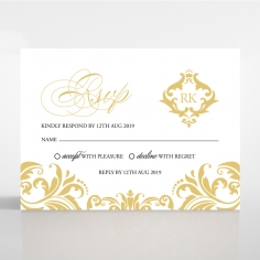 Victorian Extravagance rsvp wedding enclosure design