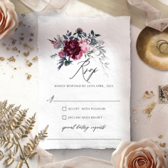 Watercolor Rose Garden rsvp invite
