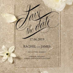 Acrylic Polished Affair save the date card design
