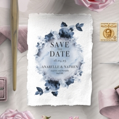Dusty Watercolour wedding stationery save the date card item