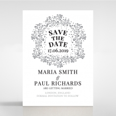 Enchanted Crest wedding save the date card