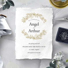Enchanted Wreath save the date card design
