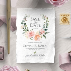 Garden Party save the date stationery card design