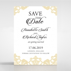 Golden Baroque Pocket save the date stationery card design