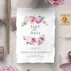 Happily Ever After save the date stationery card item