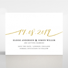 Infinity save the date invitation stationery card