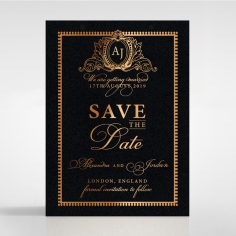 Lux Royal Lace with Foil save the date invitation stationery card