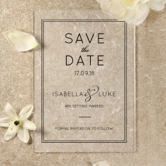 Luxe Acrylic Elegance save the date wedding stationery card item