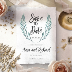 Modern Garland save the date invitation stationery card design