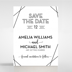Paper Art Deco wedding stationery save the date card design