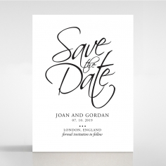 Paper Diamond Drapery save the date invitation stationery card design