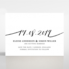 Paper Infinity save the date wedding stationery card design