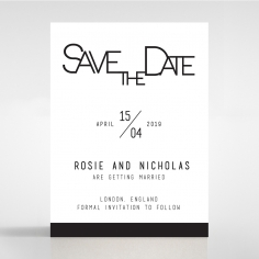 Paper Minimalist Love save the date invitation card