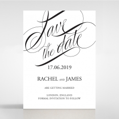 Paper Polished Affair save the date invitation stationery card