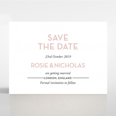Pink Chic Charm Paper wedding save the date stationery card