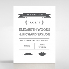 Playful Love wedding save the date stationery card