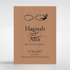Precious Moments save the date card