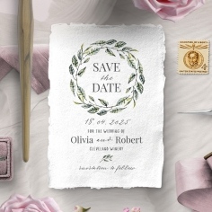 Rustic Affair wedding save the date stationery card design